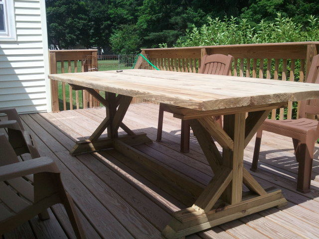 Ana White | Fancy Picnic Table - Definately worth the ...