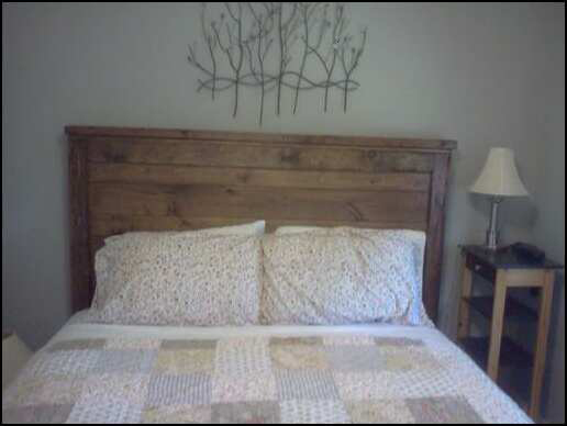 Reclaimed-Wood Farmhouse Style Headboard