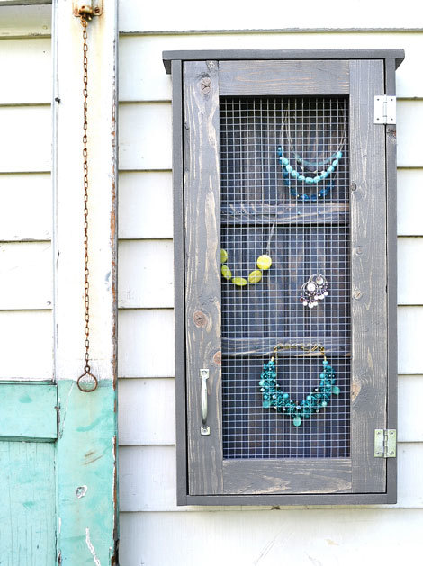 wall jewelry cabinet