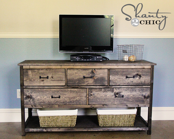How To Build A Wide Dresser Inspired By Pottery Barn Kids Camp Free Plans From Ana White