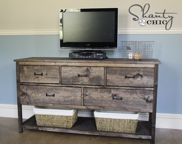 Awesome How To Build A Wide Dresser Inspired By Pottery Barn Kids Camp Dresser!  Free Plans From Ana White.com