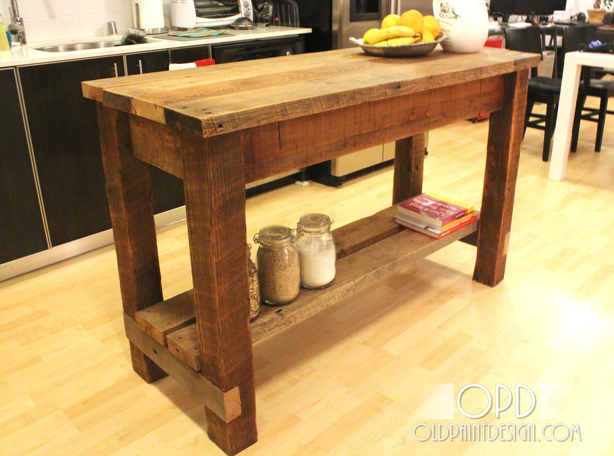 Ana white gaby kitchen island diy projects - Wood kitchen table plans ...