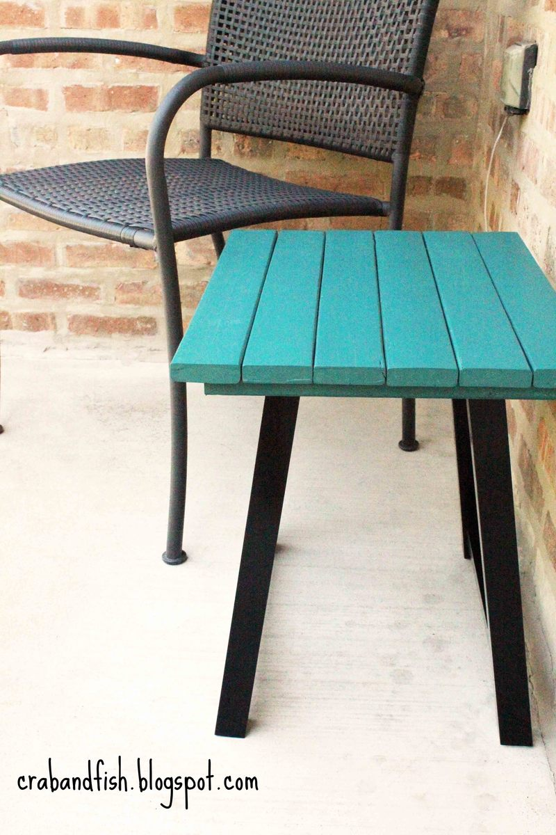 Ana White | Bar stool becomes porch table! - DIY Projects