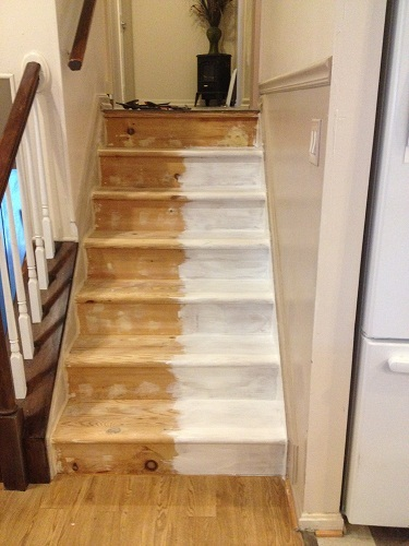 Refinished Stairs Ana White