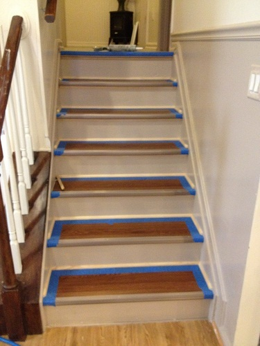 Genial Refinished Stairs