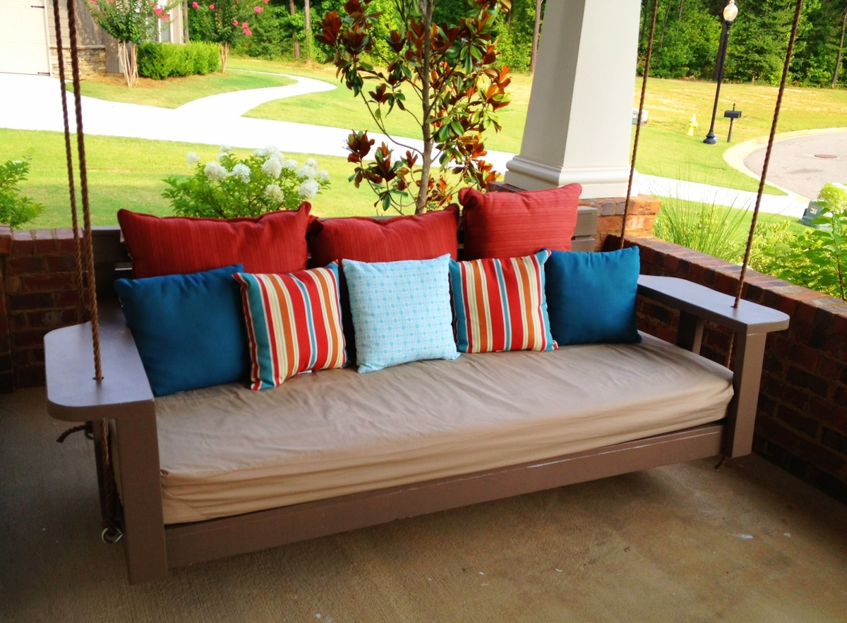 Hanging porch bed swing plans home design online for Diy patio bed