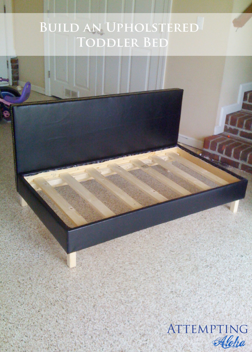 Ana White | Little Boy's Upholstered Toddler Bed - DIY ...