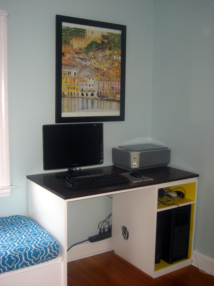 Ana White Double Desk With Window Seat Filing Space