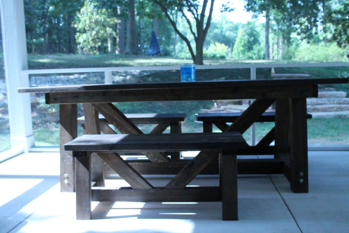 Ana White | cypress providence table for screened porch - DIY Projects