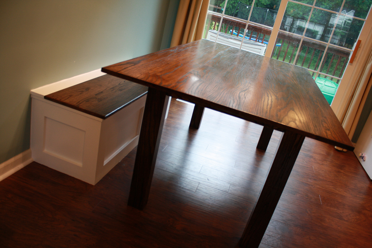 Ana White Craftsman Style Farmhouse Table Hybrid Diy
