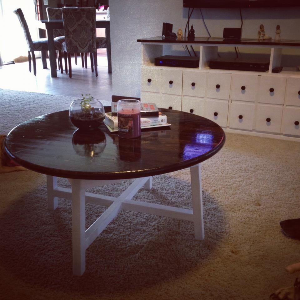Round X Base Coffee Table Ana White