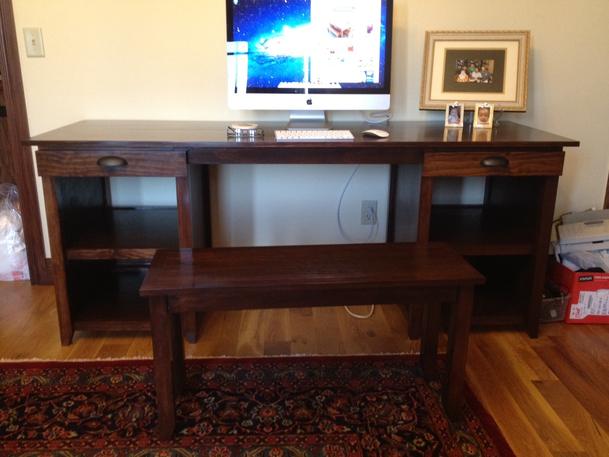 Ana White Channing Desk Bench Diy Projects