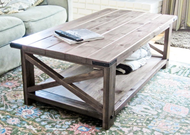 Ana white rustic x coffee table diy projects Homemade coffee table plans