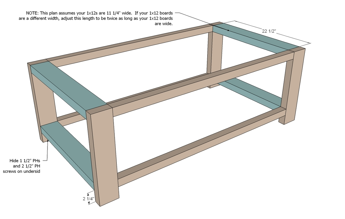 Ana White Rustic X Coffee Table Diy Projects - Wood-coffee-table-plans
