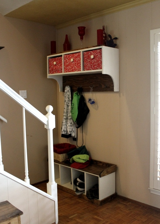 Exceptional Entryway Bench And Storage Shelf With Hooks