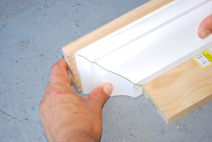 how to cut crown molding for a shelf 1