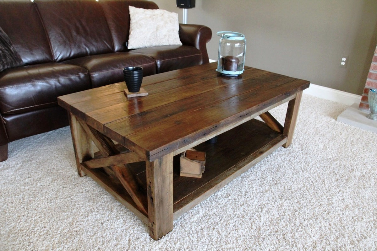 Ana white rustic x coffee table diy projects for Ana white x dining room table