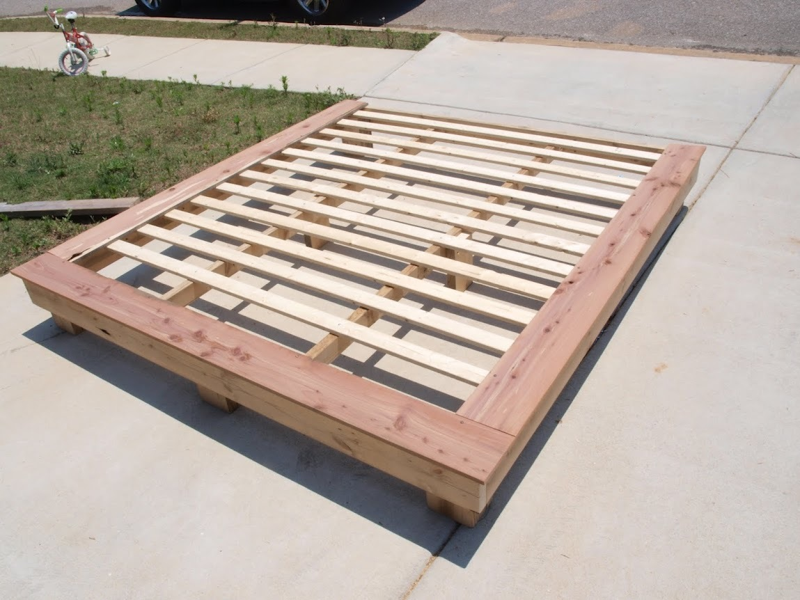 Diy king size platform bed frame plans quick woodworking for King size bed designs