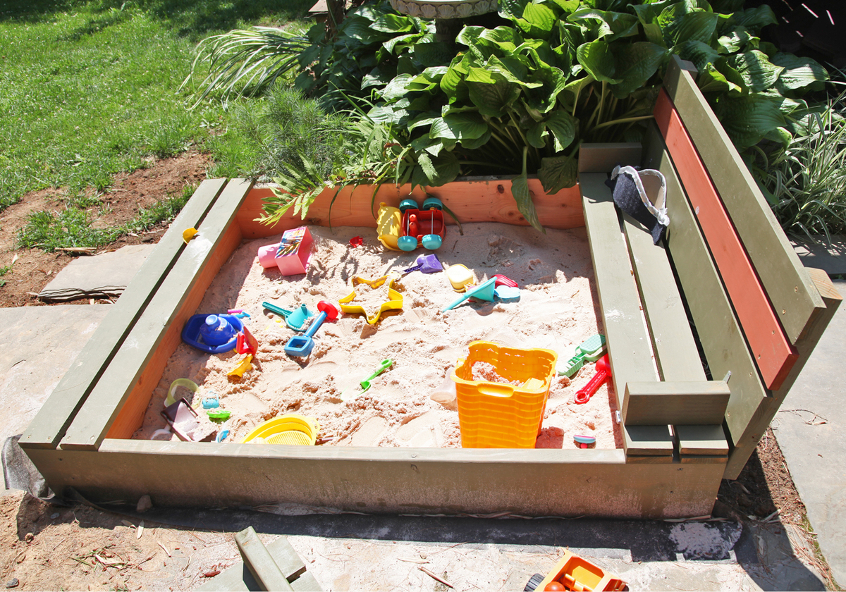 Ana White | Our New Sandbox - DIY Projects