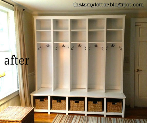 Foyer Mudroom Kits : Ana white mudroom locker and bench unit diy projects