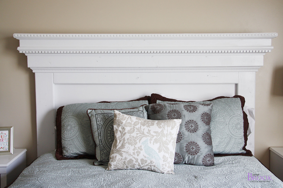 Fancy Inspired by Pottery Barn Addison Headboard features dentil moulding and crown moulding Free easy plans from Ana White