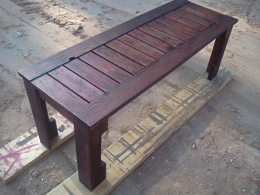 white pallets. simple outdoor bench from pallets white