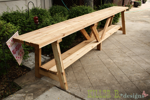 Ana White Foot Long Cedar Providence Buffet DIY Projects - 12 foot picnic table