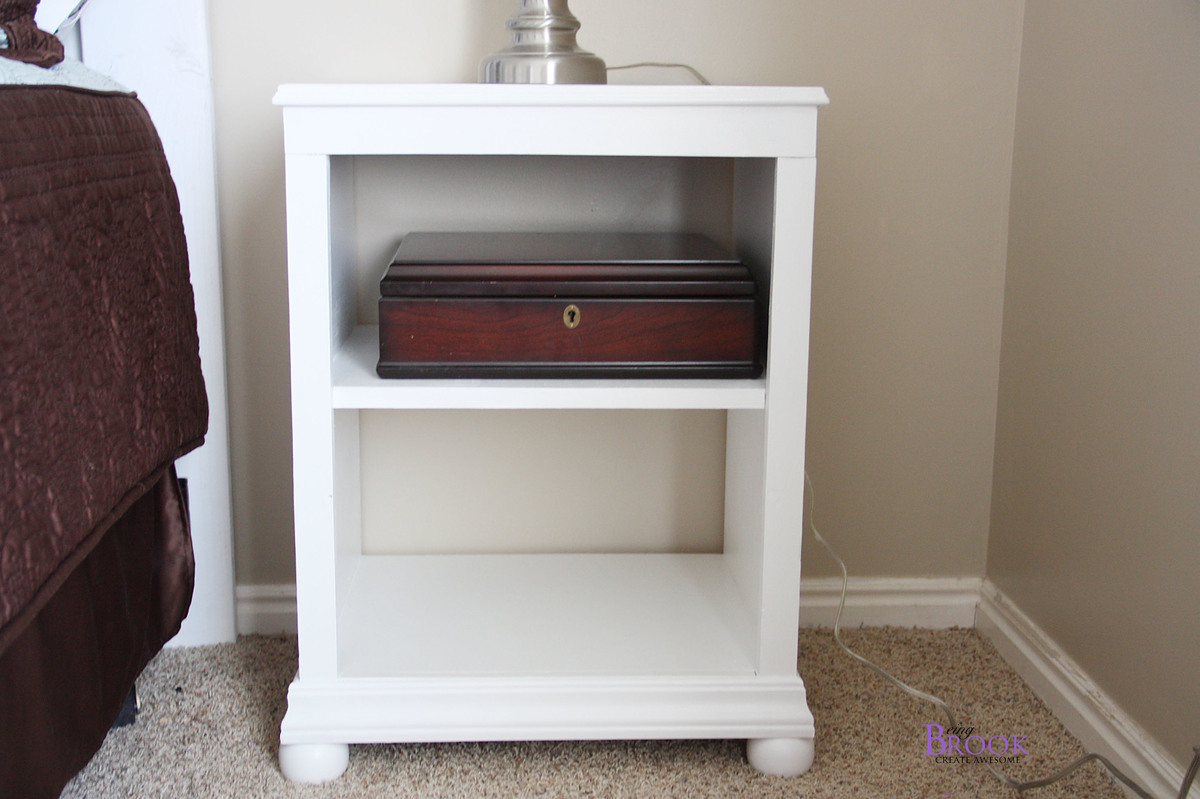 Ana White Katie Nightstand Open Shelf DIY Projects - Pottery barn white bedside table