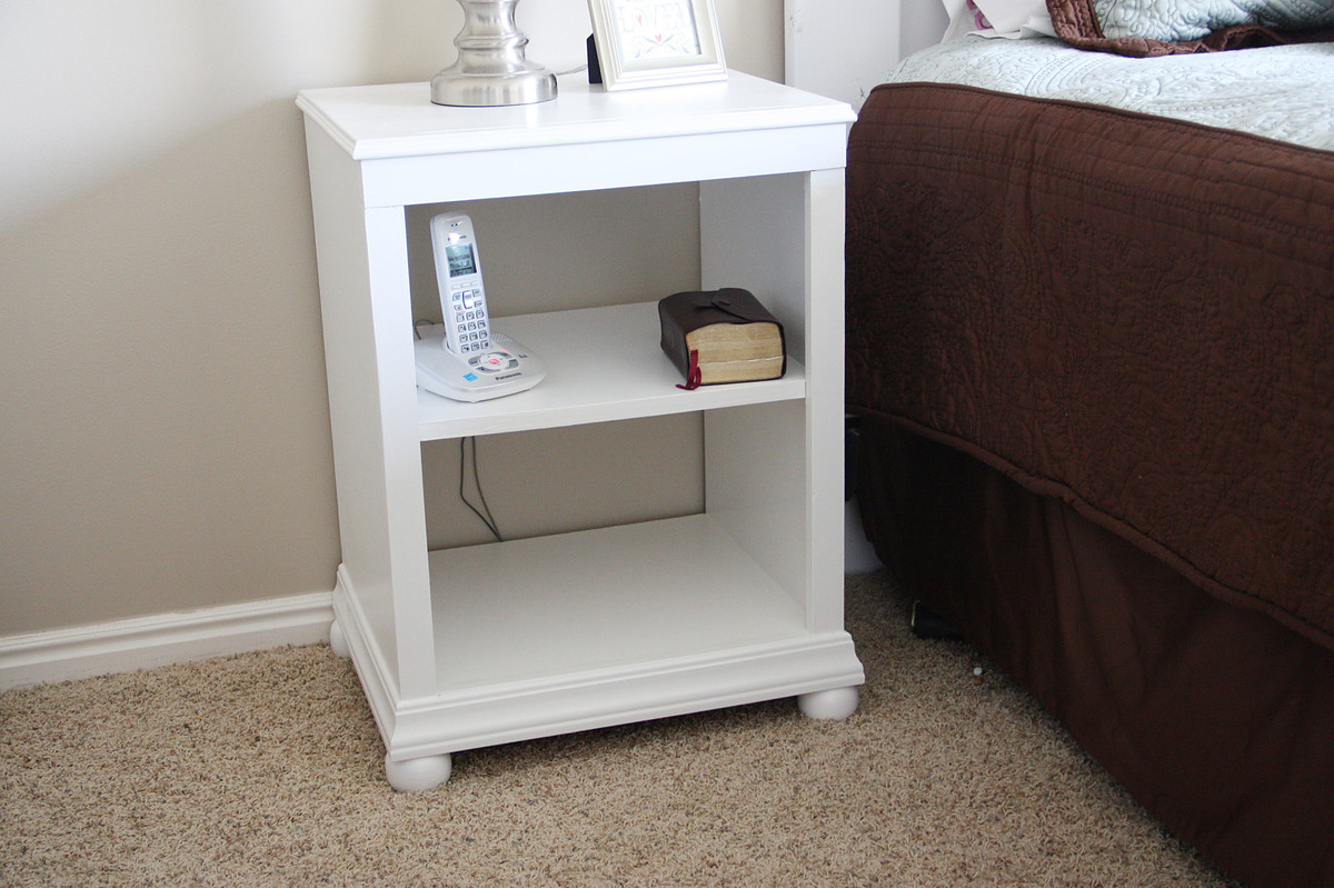 ana white | katie nightstand open shelf - diy projects Diy Nightstand Plans