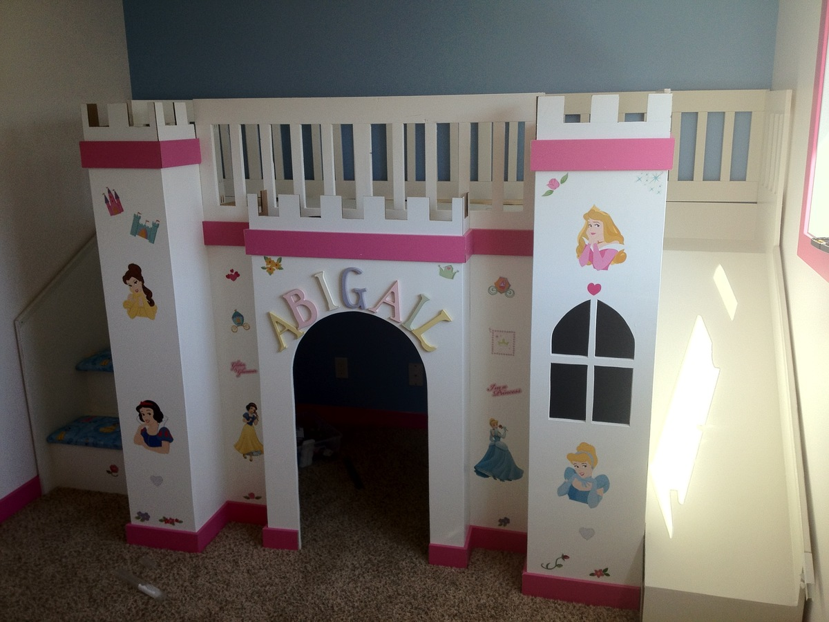 ana white abi 39 s castle loft bed diy projects