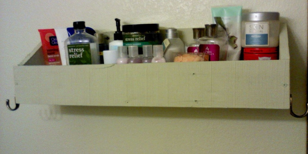 Ana White Bathroom Shelf With Hooks Diy Projects