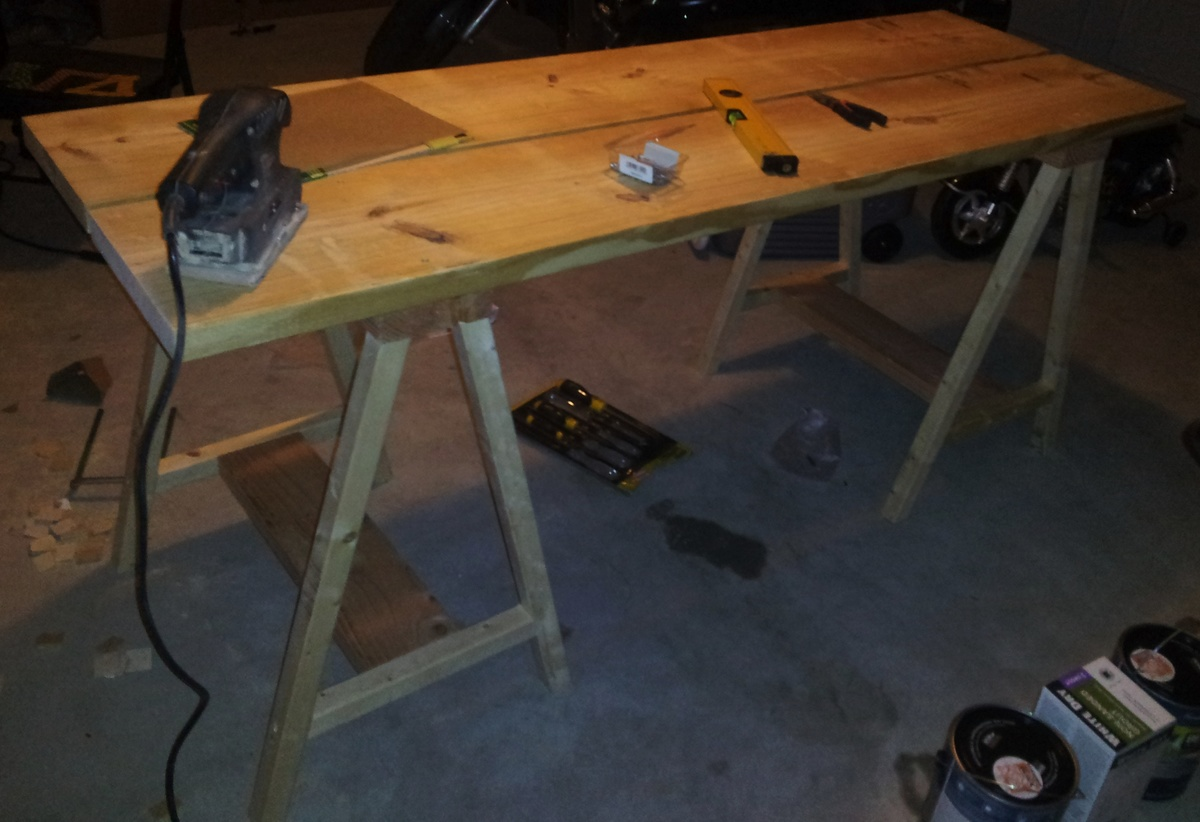 Ana White Saw Horse Work Bench Diy Projects