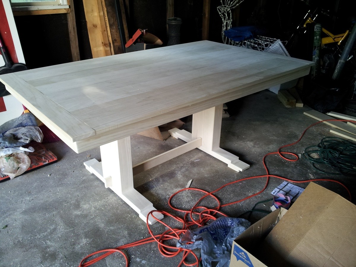 Ana White Modified Trestle Table Diy Projects