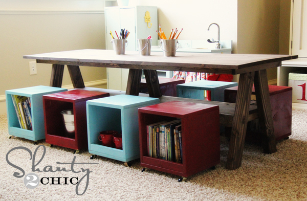 trestle play table