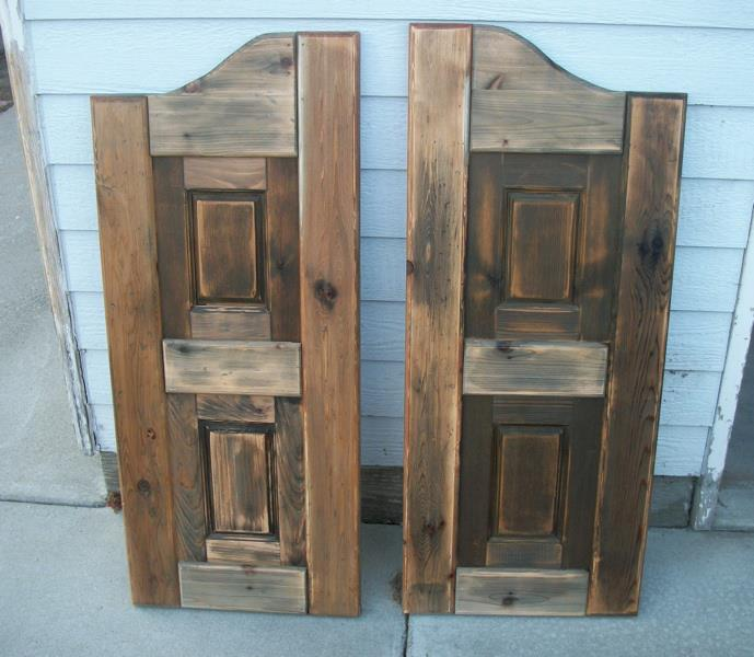 western saloon style swinging doors