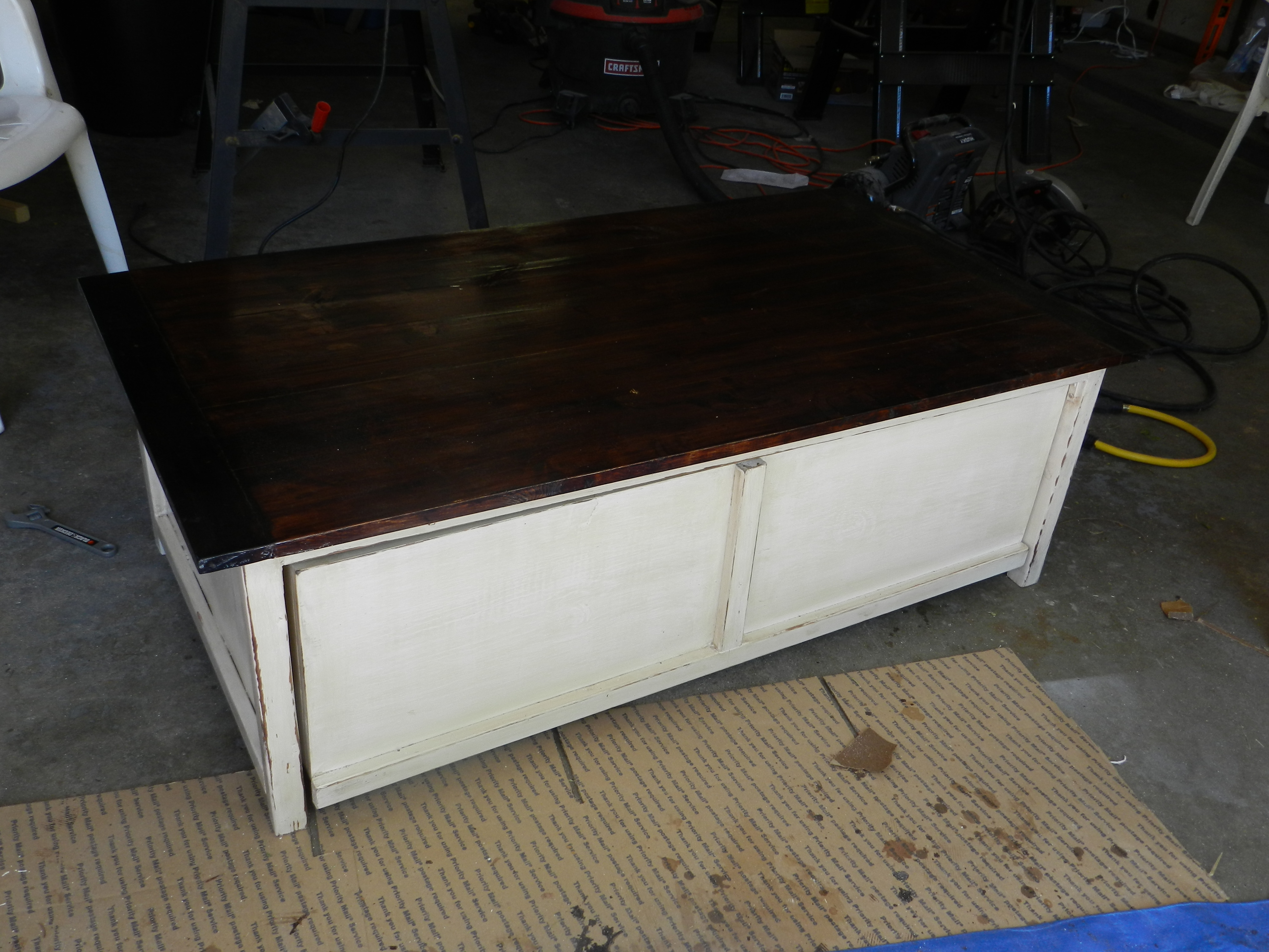 Coffee Table Toy Chest.Coffee Table With Toy Box Trundle Ana White