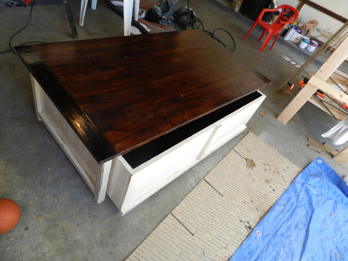 Awesome Coffee Table With Toy Box Trundle