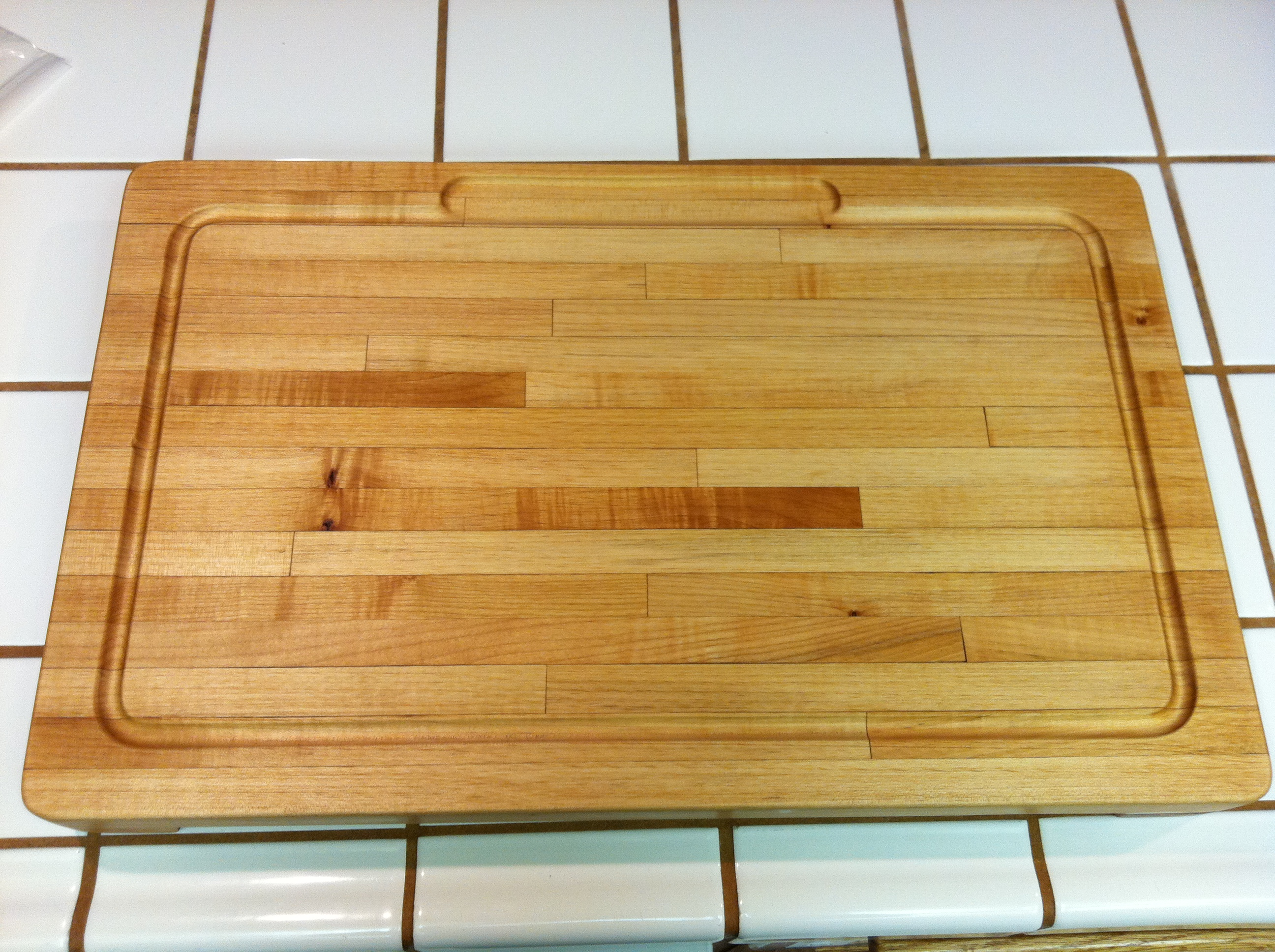 Huge Butcher Block Cutting Board My Very First Build Ever Ana White