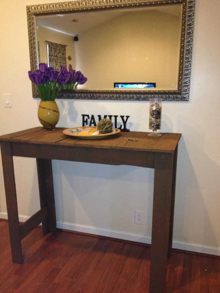 Front Foyer Table : Ana white tall pallet entryway table diy projects