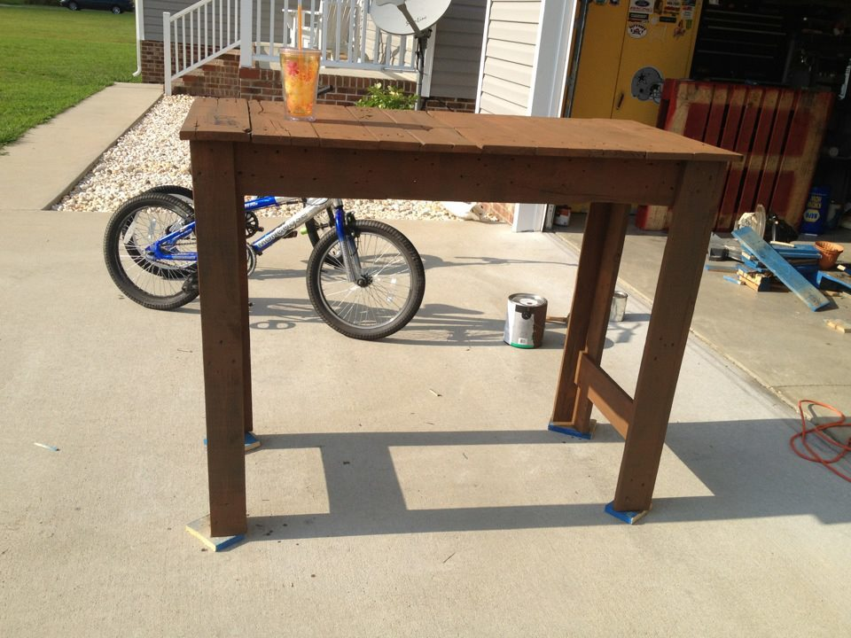tall entryway table. Tall Pallet Entryway Table T