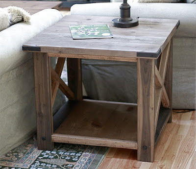 ana white | rustic x end table - diy projects Diy Rustic Nightstand