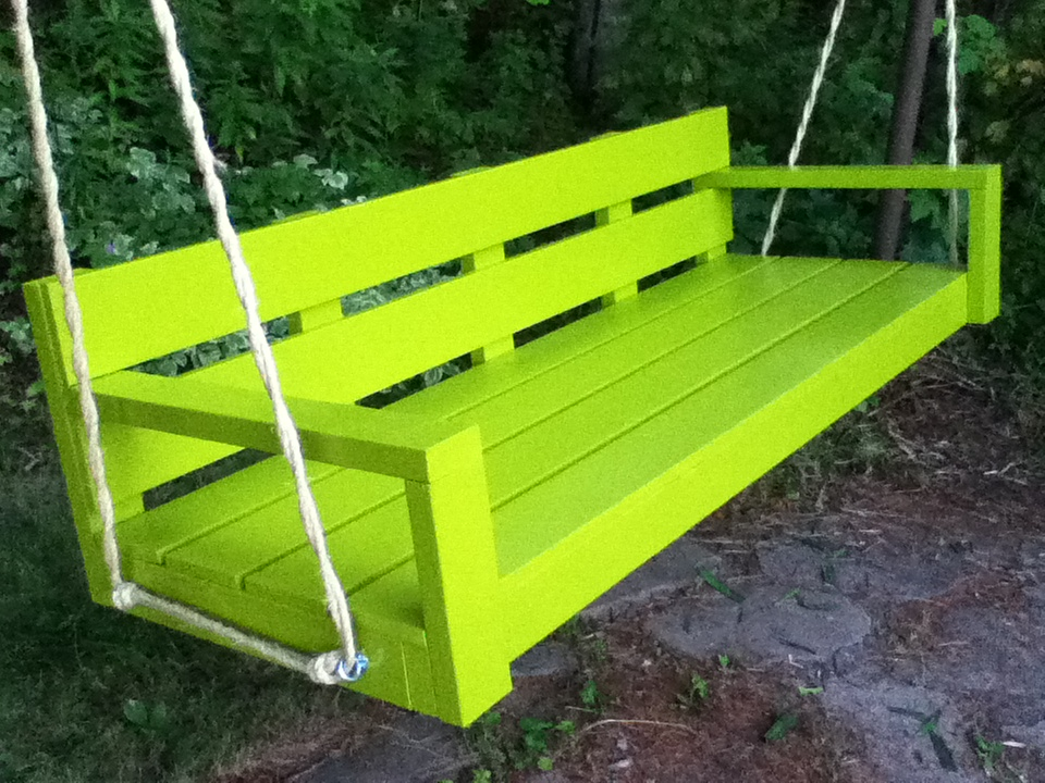 Ana White My Big Green Modern Porch Swing Diy Projects
