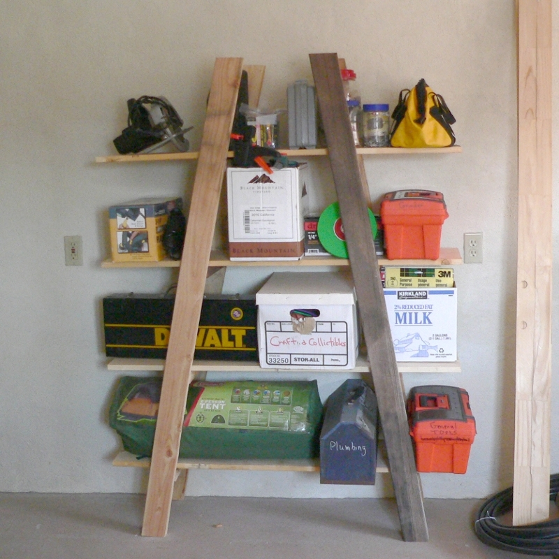 Ana White Truss Shelves Cheap Garage Storage Diy Projects