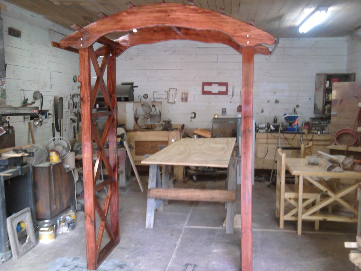 Rustic X Wedding Arch