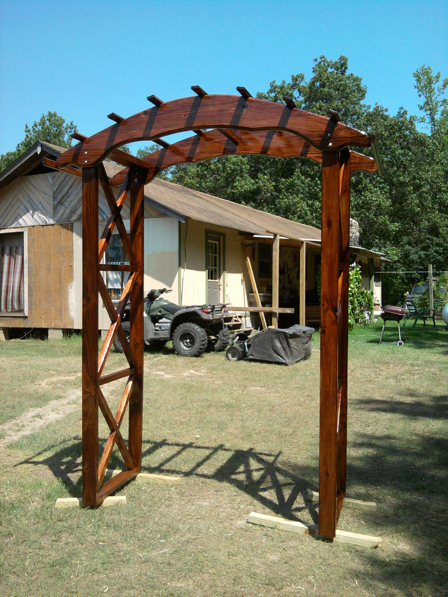 Wooden wedding arbor plans pdf plans for Plans for arbors