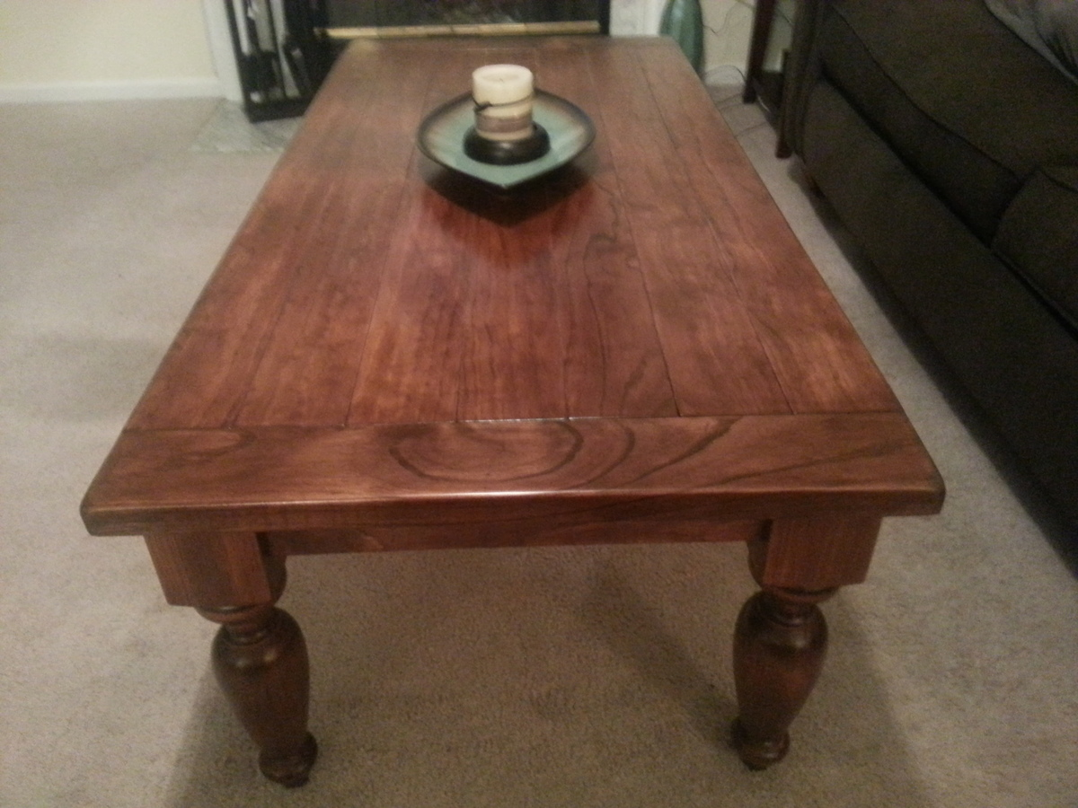 Turned Leg Coffee Table