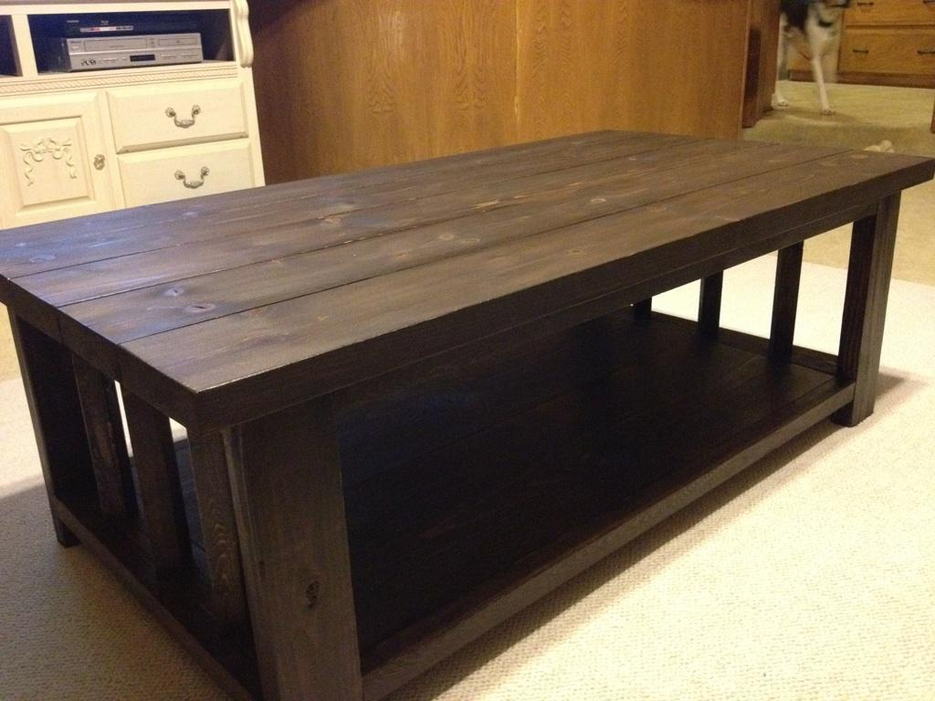 Ana white modified rustic x coffee table diy projects for Ana white x dining room table