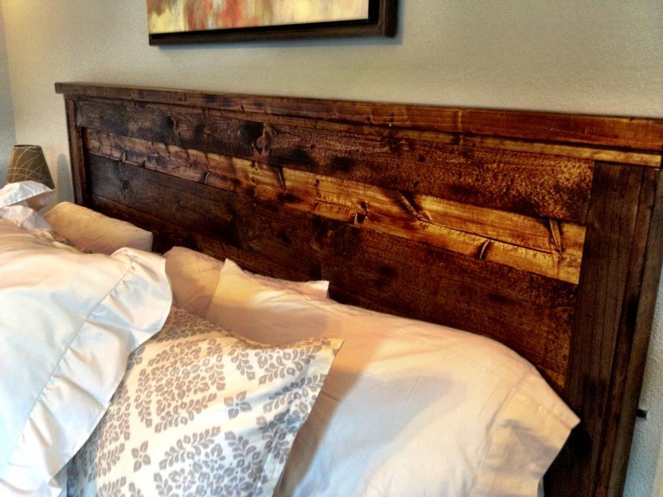 Distressed Wood Headboard