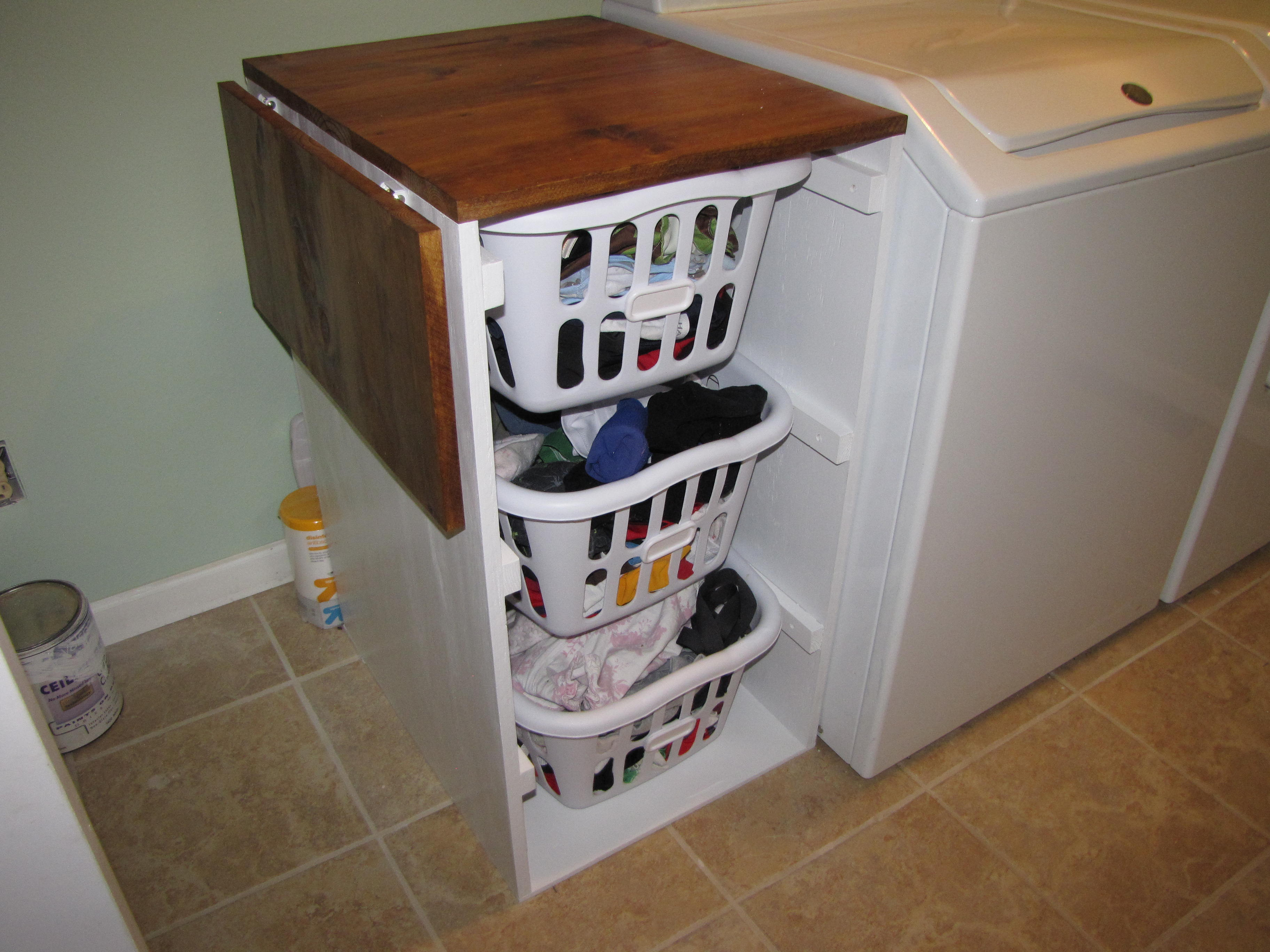 - Laundry Cabinets - Shorter Brook Laundry Basket Dresser With