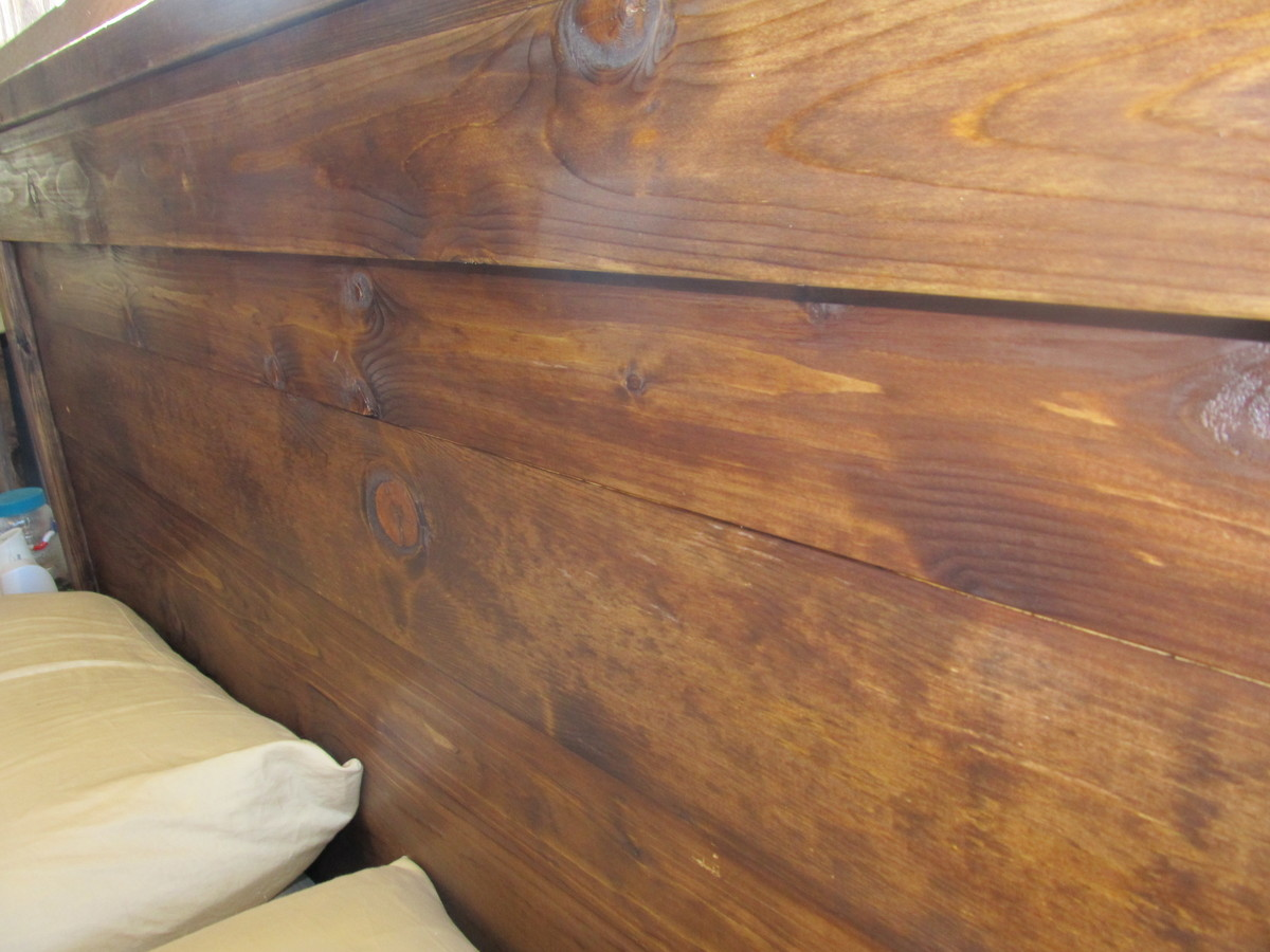 Amazing photo of Ana White Reclaimed Wood Headboard Queen Size DIY Projects with #967235 color and 4000x3000 pixels